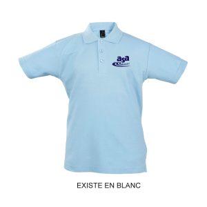 Polo coton bleu ciel