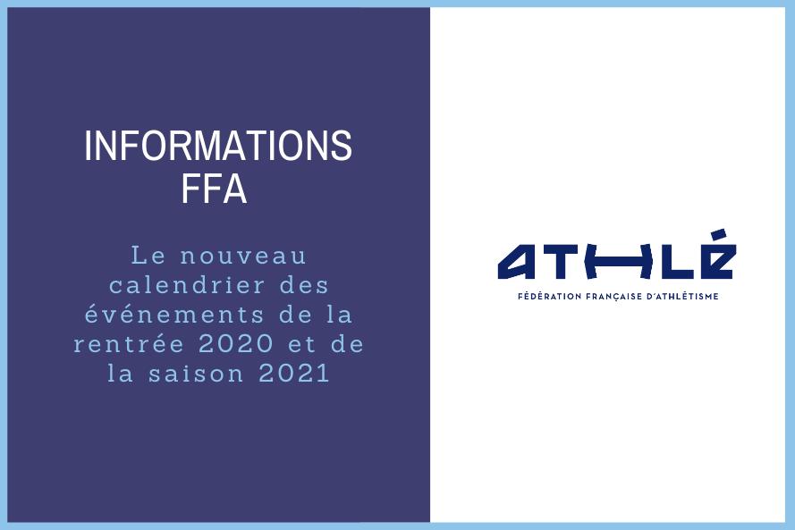 Calendrier Ffa 2021 Le nouveau calendrier des événements de la rentrée 2020 et de la